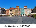 Market Square In Warsaw  Poland