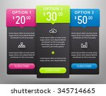 colorful pricing tables vector...