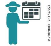 user schedule vector icon.... | Shutterstock .eps vector #345717026