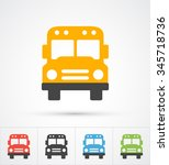 bus trendy color icons. vector | Shutterstock .eps vector #345718736