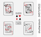 set of playing cards vector ... | Shutterstock .eps vector #345719522