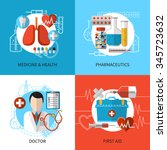 health and medical care design... | Shutterstock .eps vector #345723632