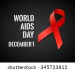 world aids day   black... | Shutterstock . vector #345723812
