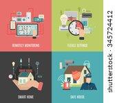smart home household devices... | Shutterstock .eps vector #345724412