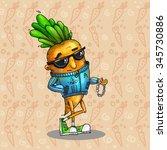 cartoon carrot character | Shutterstock . vector #345730886