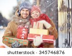 Young Couple With Christmas...