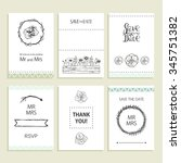 hand drawn collection of... | Shutterstock .eps vector #345751382