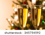 two champagne glass for... | Shutterstock . vector #345754592