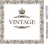 vintage frame retro decor... | Shutterstock .eps vector #34577257