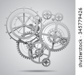 gear wheels of clockwork in... | Shutterstock .eps vector #345779426