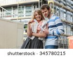 real estate and family concept  ... | Shutterstock . vector #345780215