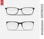 glasses isolated on transparent ... | Shutterstock .eps vector #345782222