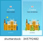 london  united kingdom flat... | Shutterstock . vector #345792482