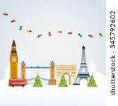 london  united kingdom and... | Shutterstock . vector #345792602