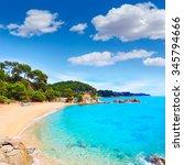 cala treumal beach in lloret de ... | Shutterstock . vector #345794666