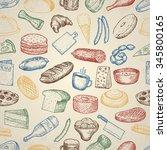 set of restaurant icons. hand... | Shutterstock .eps vector #345800165