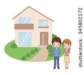 family home | Shutterstock .eps vector #345802172