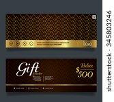 gift voucher premier gold.vector   Shutterstock .eps vector #345803246