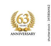 63 years anniversary wreath... | Shutterstock .eps vector #345806462