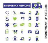 emergency medicine  icons ... | Shutterstock .eps vector #345811388