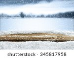 empty winter background for... | Shutterstock . vector #345817958