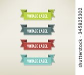 vintage elements set | Shutterstock .eps vector #345825302