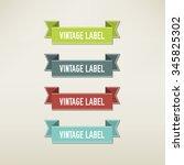vintage elements set | Shutterstock .eps vector #345825302
