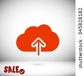 cloud upload icon. one of set...