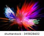 green  red  blue  yellow lights ... | Shutterstock . vector #345828602