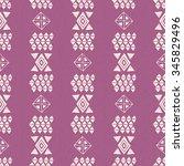 vector aztec seamless pattern.... | Shutterstock .eps vector #345829496