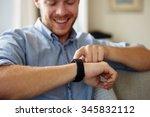 close up of man wearing smart... | Shutterstock . vector #345832112
