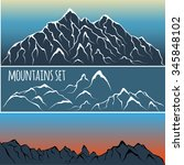 mountain range set | Shutterstock .eps vector #345848102