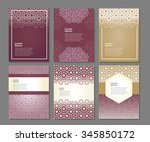 banners set of templates with... | Shutterstock .eps vector #345850172