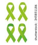 symbol of scoliosis. green...   Shutterstock . vector #345851186