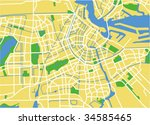 vector map of amsterdam. | Shutterstock .eps vector #34585465