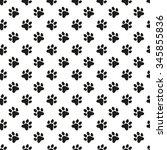paw print seamless pattern. pet ... | Shutterstock .eps vector #345855836