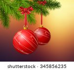 christmas background with... | Shutterstock .eps vector #345856235