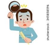 men hair loss is worrisome | Shutterstock .eps vector #345858596