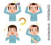 cycle of male hair growth | Shutterstock .eps vector #345858632