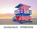 sunrise in miami beach florida  ... | Shutterstock . vector #345862046