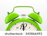 Ringing Alarm Clock. Green...