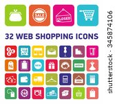 32 web shopping icons. set of... | Shutterstock .eps vector #345874106