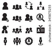 people   user  businessman  ... | Shutterstock .eps vector #345875255