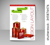 business flyer template with... | Shutterstock .eps vector #345876476