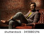 bearded man with a very... | Shutterstock . vector #345880196