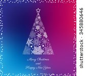 greeting card with christmas...   Shutterstock .eps vector #345880646
