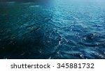 blue deep sea waves with foam... | Shutterstock . vector #345881732