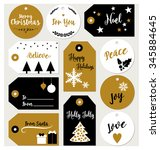 set of christmas gift tags with ... | Shutterstock .eps vector #345884645