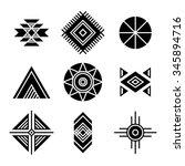 native american indians tribal... | Shutterstock .eps vector #345894716