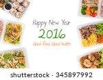 sushi  stir fried fish ... | Shutterstock . vector #345897992